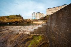 Biarritz buildings - stock photo