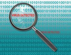 virus detected - stock illustration