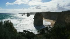 Backlit twelve apostles Stock Footage