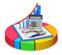Accounting and statistics concept Stock Illustration