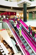 Stock Photo of Pink Escalator