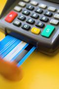 Credit Card terminal - stock photo