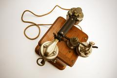 Vintage Telephone from top - stock photo