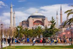 Hagia Sofia Istanbul Turkki (Pääkirjoitus) Kuvituskuvat