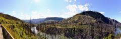 British Columbia wilderness along the Yellowhead Highway - stock photo