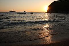 Summer Beach Sunset - stock photo