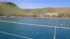 Sailing around San Sebastian de La Gomera island in Spain. Stock Footage