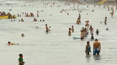 Manuel Antonio Beach Ticos Costa Rica 4 Stock Footage