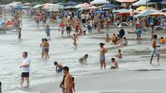 Manuel Antonio Beach Ticos Costa Rica 5 Stock Footage