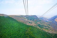 Stock Photo of landscape view from ropeway altitude