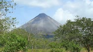 Stock Video Footage of Arenal Volcano 2