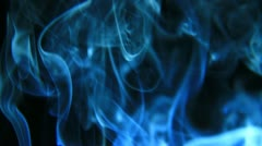 Blue smoke - stock footage
