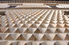 Ferrara (Italy), diamond shaped wall of famous ancient palace - stock photo
