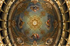 Ceiling of opera theatre of city of Carpi Stock Photos