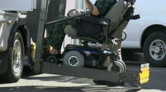 Wheelchair Lift ED Stock Footage