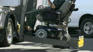 Stock Video Footage of Wheelchair Lift