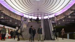 Metro subway timelapse - stock footage