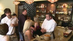 Group at Bar Scene.mp4 - stock footage