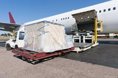 Loading cargo plane Stock Photos