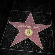 groucho marx star in hollywood walk of fame, los angeles, united states - stock photo
