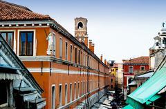 Venetsia, Italia - arkkitehtonisia yksityiskohtia Kuvituskuvat
