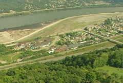 Aerial West Aliquippa 1 Stock Footage