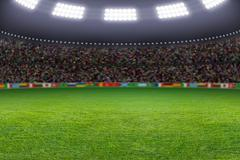 soccer stadium - stock illustration