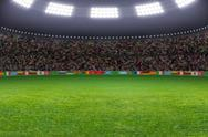 Stock Illustration of soccer stadium