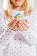 holding world in hands - stock photo