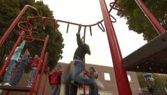 Kids On Playground 6 Stock Footage