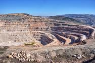 Stock Photo of open pit mine