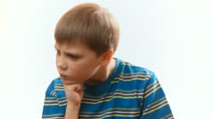 Child angry and resentful Stock Footage