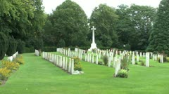 The CWGC Ramparts Cemetery, Ieper (Ypres), Belgium Stock Footage