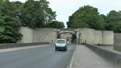 Lille Gate, Ieper (Ypres), Belgium Stock Footage