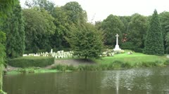 The CWGC Ramparts Cemetery, Ieper (Ypres), Belgium - stock footage