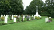 Stock Video Footage of The CWGC Ramparts Cemetery, Ieper (Ypres), Belgium
