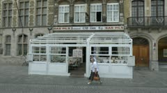 The Old Tom Hotel & cafe, Ieper (Ypres), Belgium Stock Footage