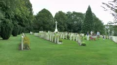Ramparts Cemetery, Ieper (Ypres), Belgium - stock footage
