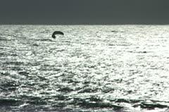 Kiteboarder Silver Stock Footage