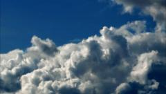 White Cumulus Clouds Blue Sky Time Lapse - 25FPS PAL Stock Footage