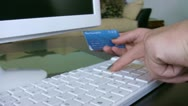 Stock Video Footage of Confirming credit card data