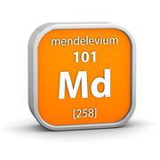 mendelevium material sign - stock photo
