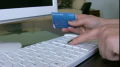 Confirming credit card data Stock Footage