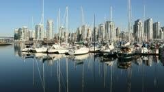 False Creek Marina Reflection, Vancouver Stock Footage