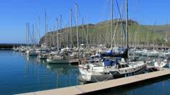San Sebastian harbor in La Gomera Island Stock Footage