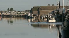 Morning Fish Boat, Steveston's Docks Stock Footage