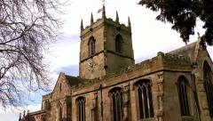 English Country Church Stock Footage