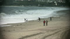 People in recreational activities on Beach Stock Footage
