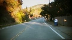 Speeding POV through the countryside Stock Footage