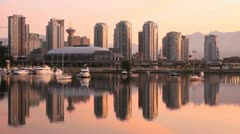 Vancouver Cityscape Morning, Dawn Stock Footage